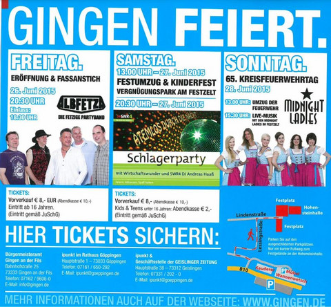 Tickethinweis